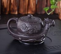 Hot Sales Chinese Yixing purple clay TeapotRaditional dragon tea pot Big capacity Handmade clay tea set kettle kung fu teapot