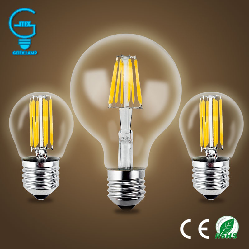 Gitex-bombilla LED antigua E27 de 220V, 2W, 4W, 6W, 8W, luz con...