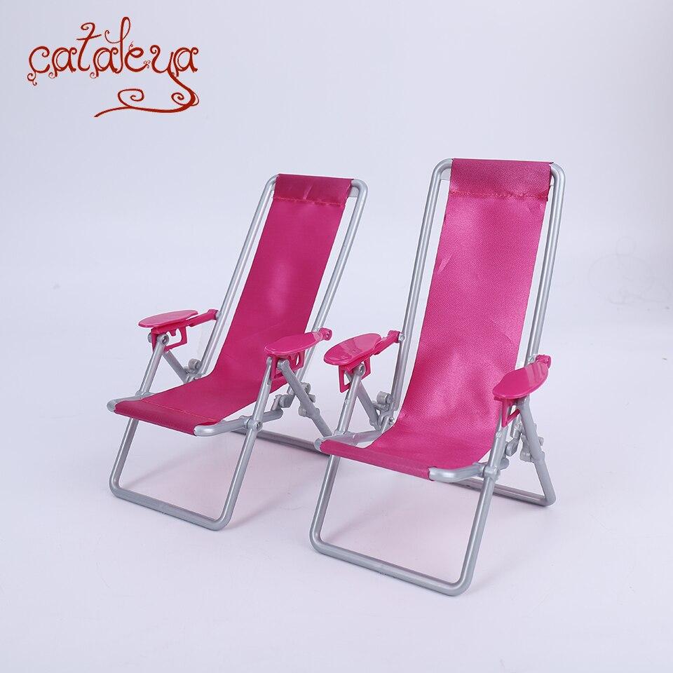 Cataleya BJD muñeca 1/6 accesorios de silla plegable de natación casa Rosa Silla de playa venta al por menor es solo para un par de días