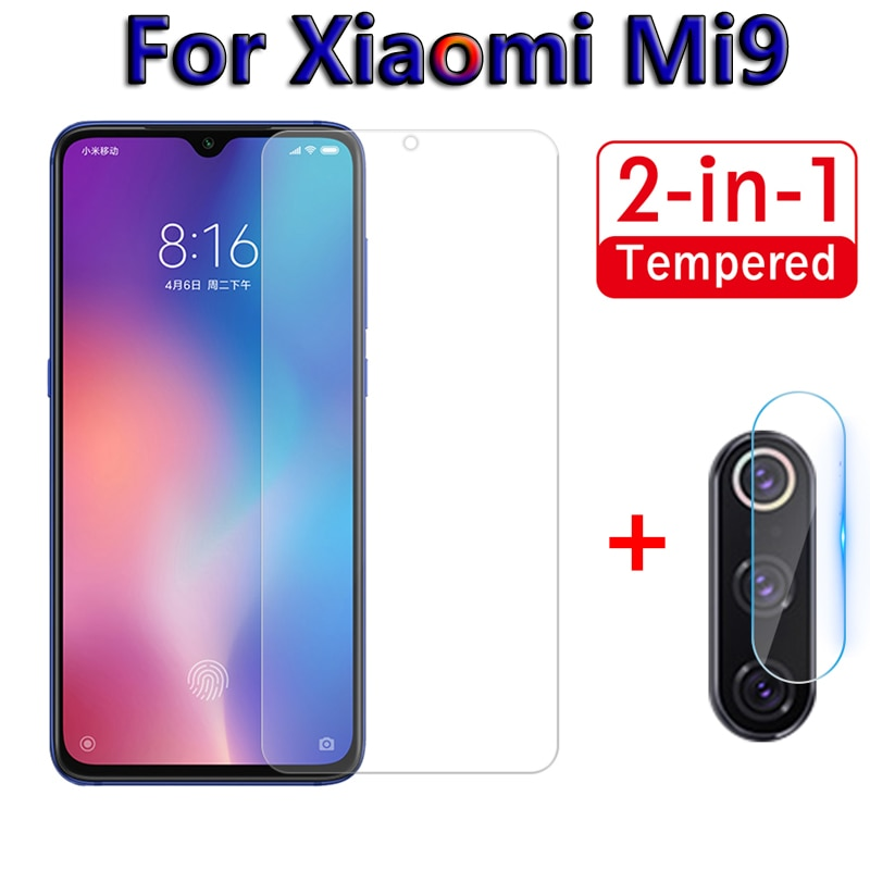 2 in 1 Screen Protector Glass For Xiaomi Mi9 SE Mi 9 9se Camera Tempered Glass On For Xiaomi Mi9 se Back Lens Protective Film 9H