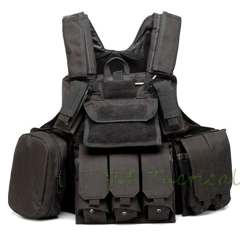 Gran oferta Molle CIRAS Airsoft Paintball Chaleco de combate chaleco contra ataques incluye bolsa Mag y bolsa de accesorios