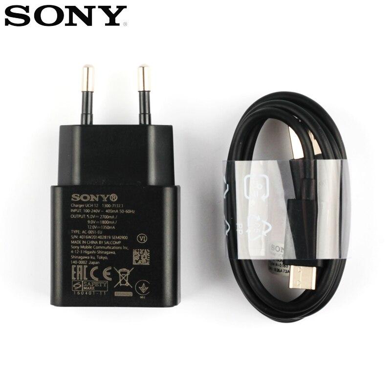 Оригинальный быстрый Chatger адаптер быстрое зарядное устройство для Sony Xperia XZs G8232 X Compact F5321 XA2 Ultra XZ2 XZ Премиум XZP Type-C кабель