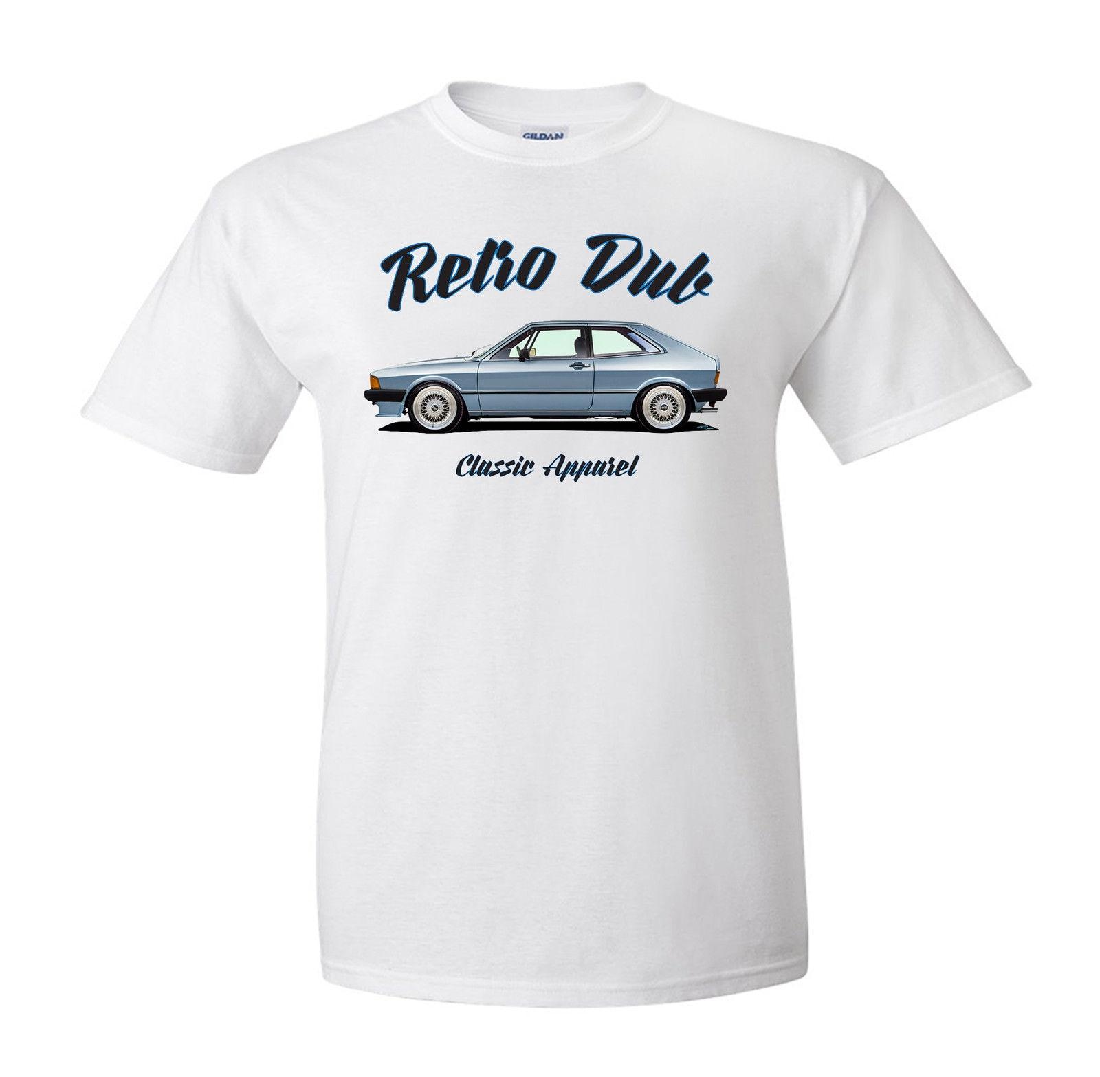 2018 Men High Quality Tees German Classic Car Fans Scirocco Mk1 T-Shirt. Retro Dub , Classic Car, German Modified. Neon T Shirts