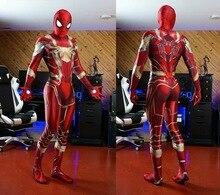 Spider-Man Costume MCU fer araignée rouge or 3D Spandex Cosplay Spiderman Zentai Costume personnalisé body offre spéciale
