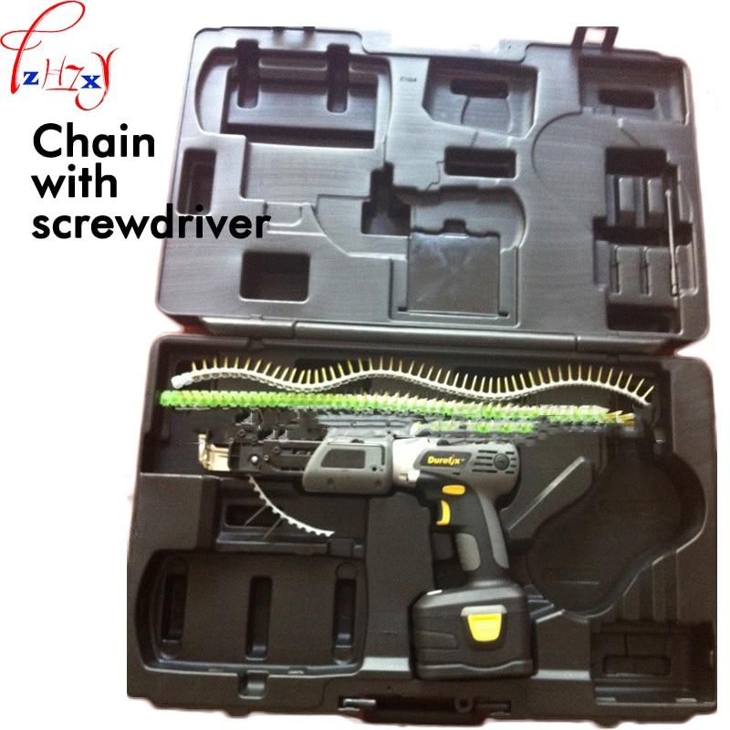18 V de lítio cinto Cadeia parafuso arma elétrica parafuso de alimentação automática para o arranque automático fita cadeia parafuso arma 1 PC