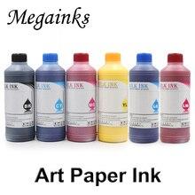6 bouteilles 250 ML/Set Art papier encre pigmentée pour Mimaki pour Roland pour imprimante à jet dencre Mutoh et DX4 DX5 DX6 DX7 encre de tête dimpression noire