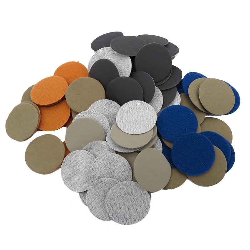 Crochets et boucles de papier de verre étanches en carbure de silicium, grains de 60 à 10000, pour le ponçage humide ou sec, 50 pièces, 1 pouce, 25MM