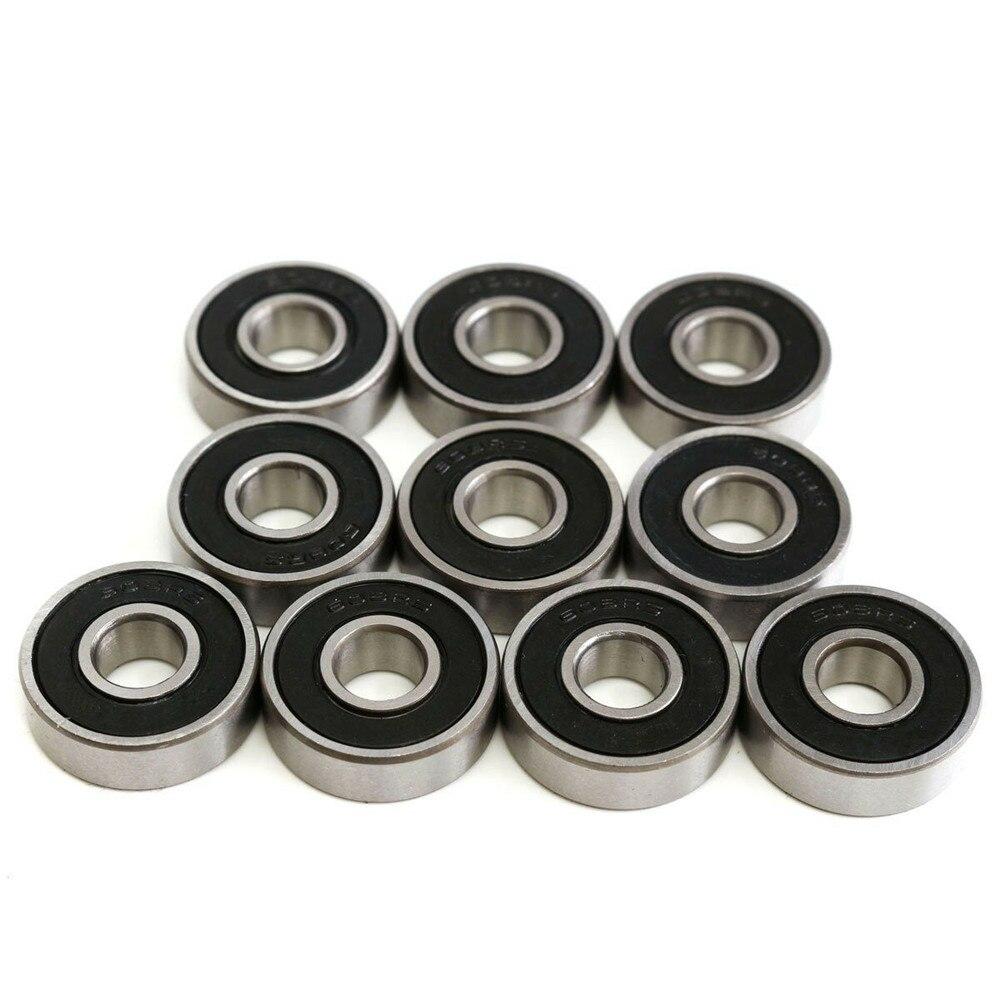 10 pces 608 2rs rolamento 8x22x7mm rolamentos de esferas selados de aço profundo do sulco 608rs z3v3 608-2rs 608rs rolamento 8*22*7 608 tamanho