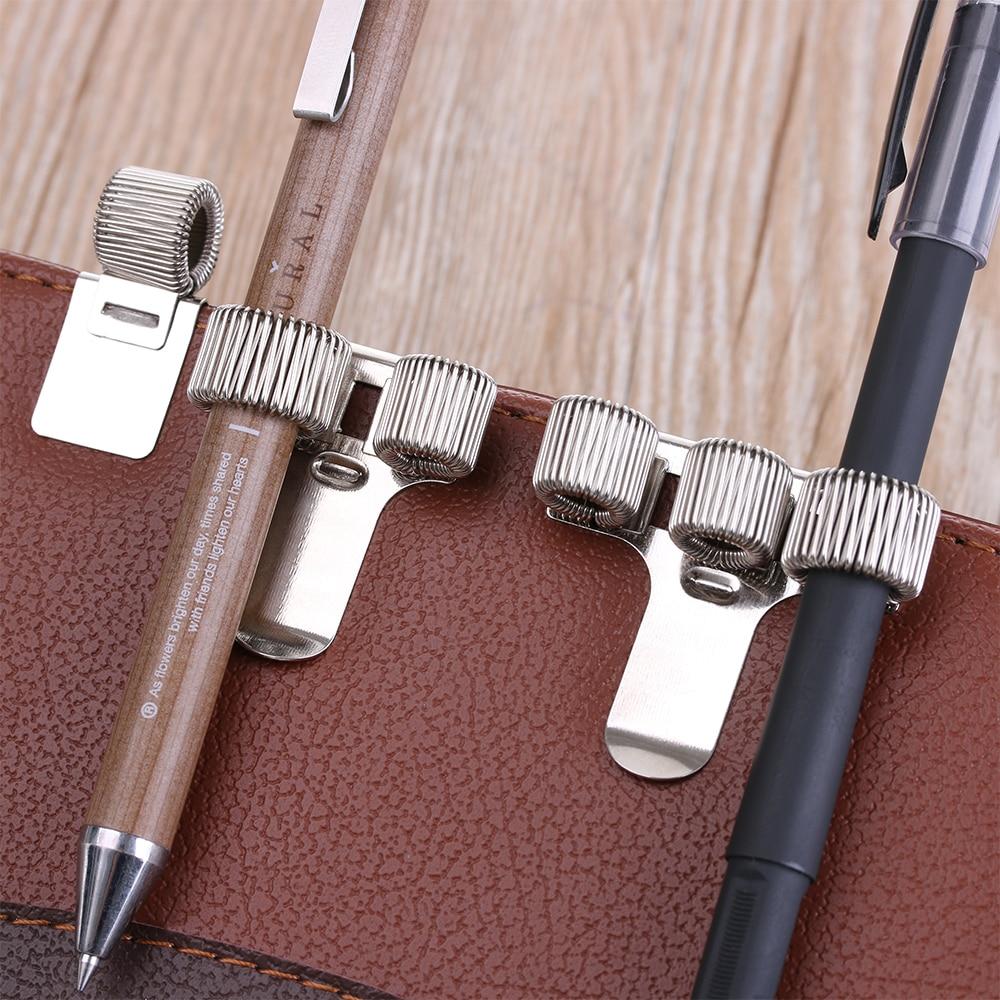 1 pçs quente único/duplo/triplo buraco metal primavera caneta titular com clipe de bolso médicos enfermeira uniforme caneta suportes dropshipping quente