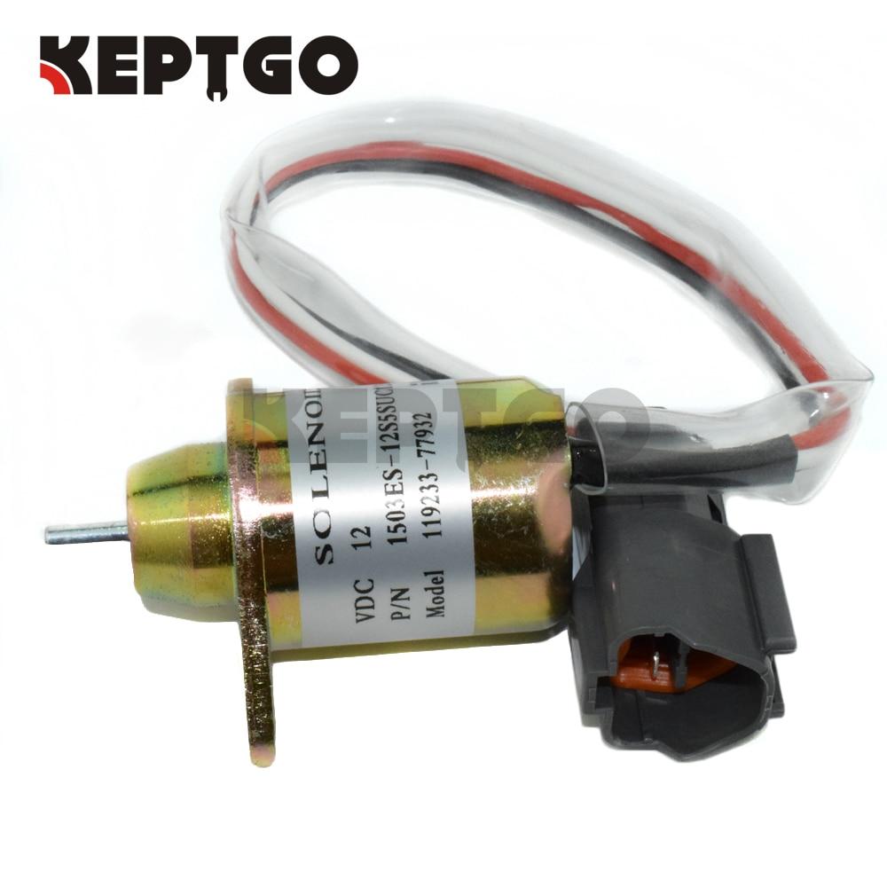 صمام لولبي لإغلاق الوقود 1503ES-12S5SUC12S, لمحرك هيونداي/دايوو/كوماتسو ، يمار موديل 119233-77932