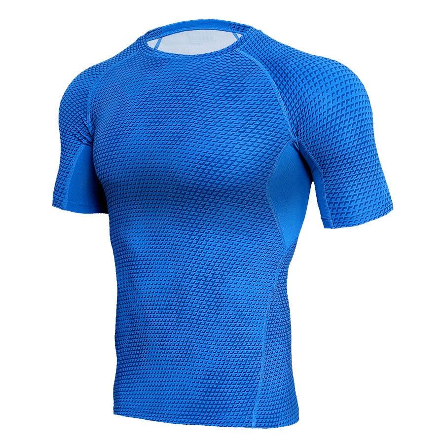 Camiseta de hombre efecto 3D de entrenamiento 2019 camiseta de compresión Fitness Gyms camiseta blanca MMA Rashguard ropa deportiva camiseta de culturismo de talla grande