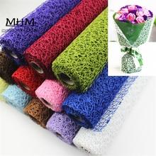 Emballage de papier en crêpe décoration cadeau   Fleurs, matériel de bricolage, fleurs Jacquard matériel de fleurs, rouleau de tissu de 5 mètres