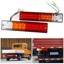 2 قطعة LED وقف الخلفية الذيل الفرامل عكس الضوء بدوره inditor 12 فولت/24 فولت ATV شاحنة مقطورة مصباح