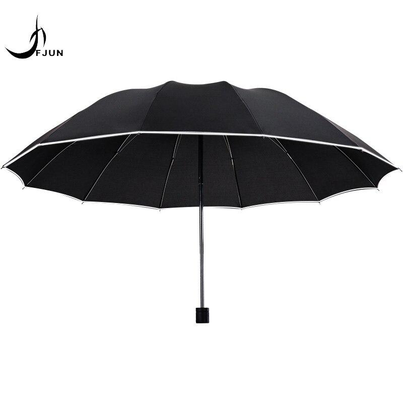 Paraguas de negocios de 10 huesos, paraguas grande reforzado con doble triple publicidad, paraguas de lluvia y sol para hombres, paraguas grandes