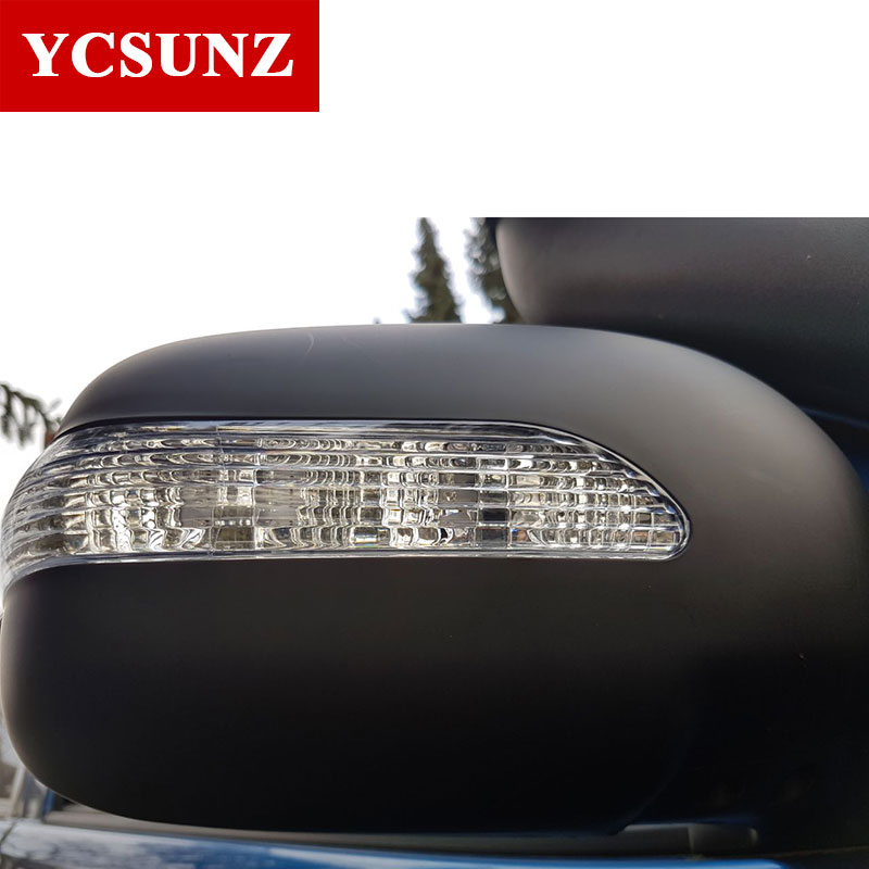Cubierta de espejo lateral de coche cubierta para espejo retrovisor ABS con indicador para Toyota Hilux Vigo SR5 2012 2013 2014 Cabina Doble