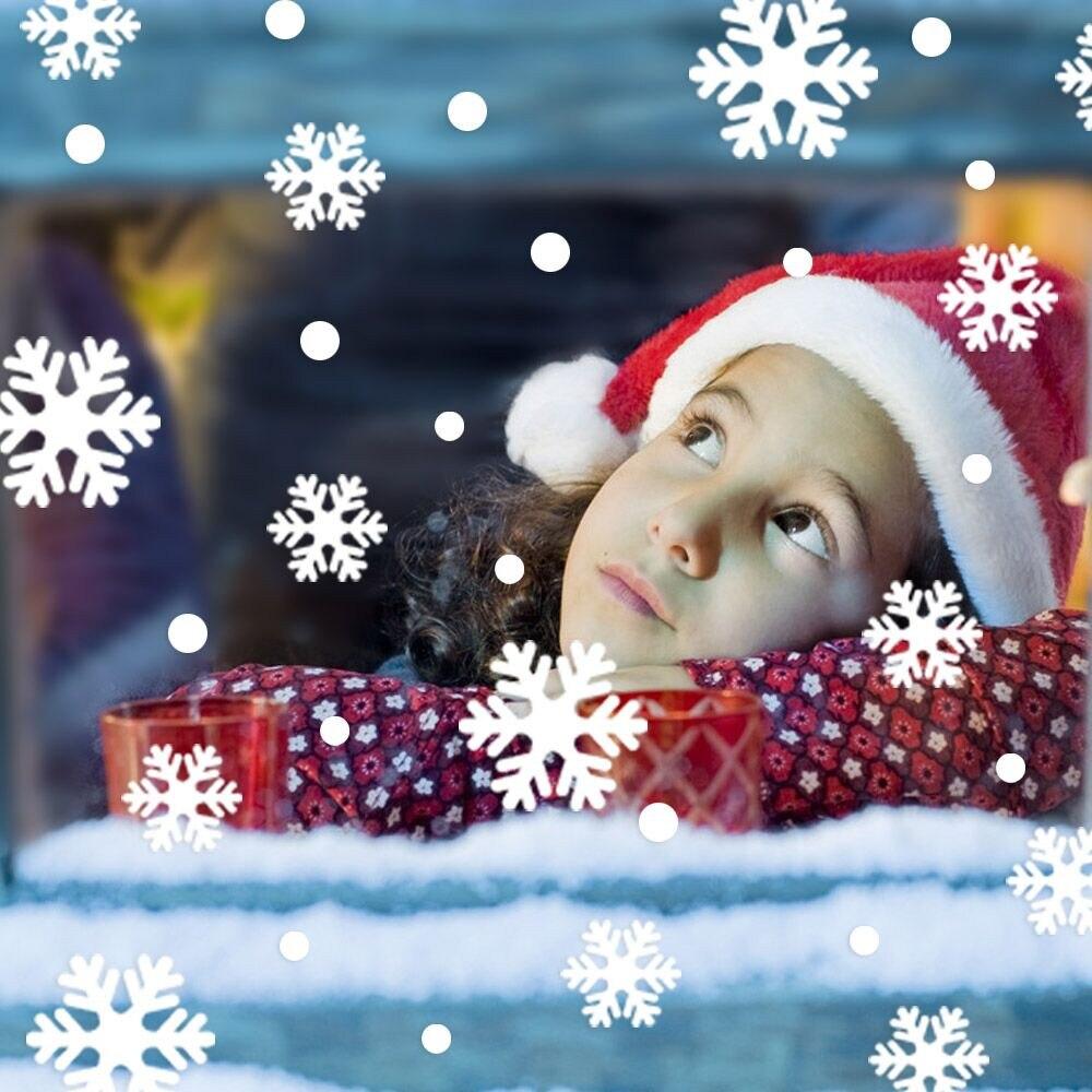 Nueva decoración de Navidad pegatinas adhesivas para ventana extraíble DIY de pared de vidrio pegatinas Feliz Navidad pegatina de copo de nieve