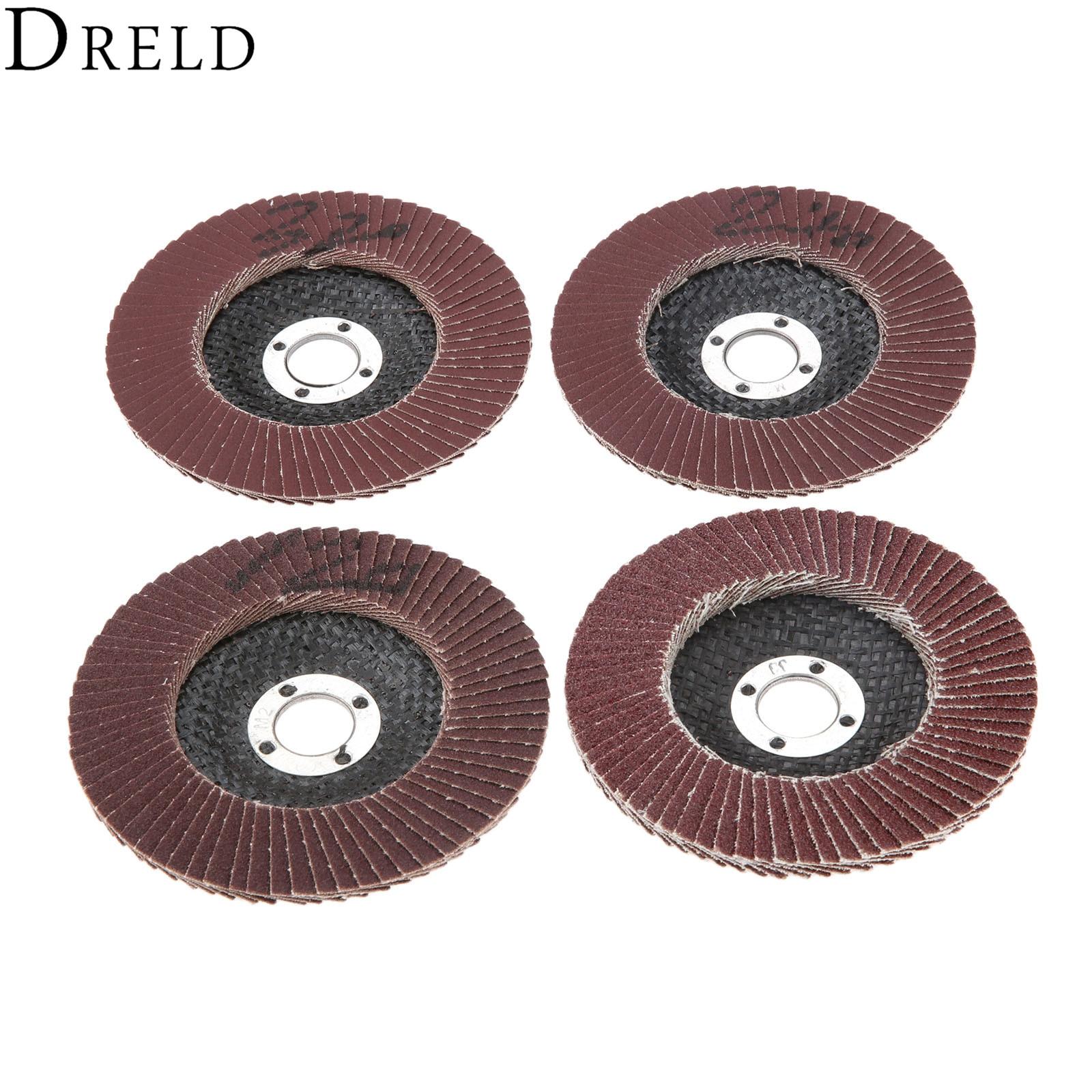 DRELD 1Pc Dremel Accessories Grinding Wheels Flap Discs 100mm Angle Grinder Sanding Discs Abrasive Tool  80/120/240/320 Grit