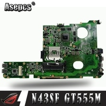 Akemy N45SF laptopa płyta główna For Asus N45SF N45SL N45S N45 Test oryginalnej płyty głównej
