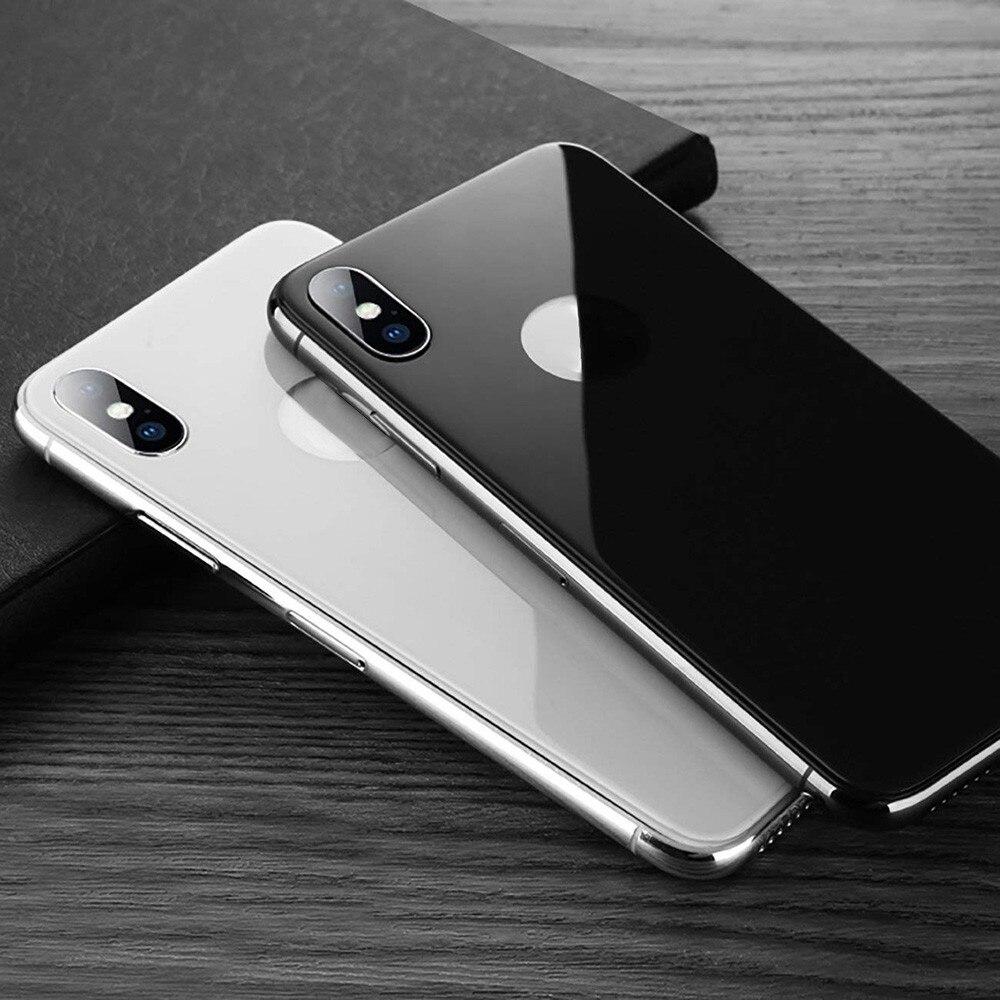 Cubierta trasera 3D vidrio protector para iPhone XSMax XS Max X S película trasera antiarañazos estuche amigable protector de cobertura total Glas