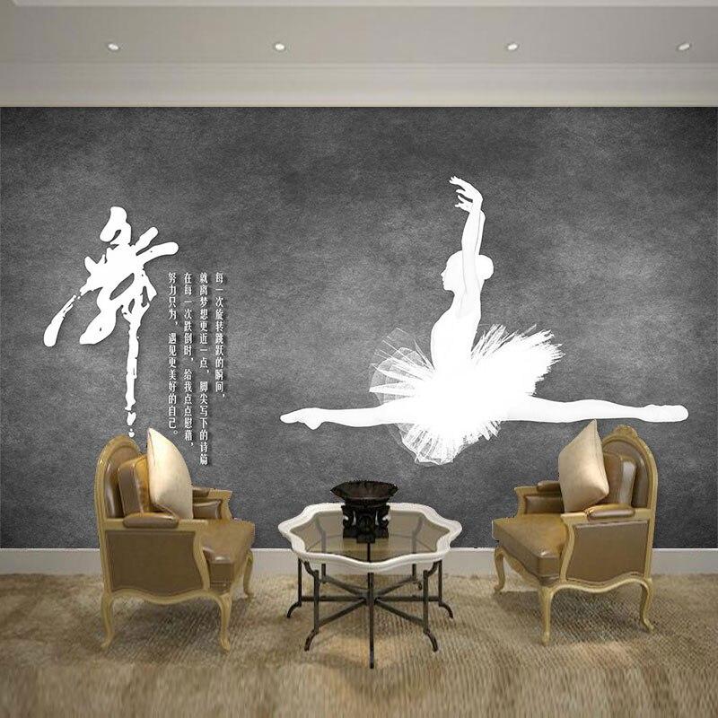 Papel tapiz personalizado beibehang, mural 3d europeo, ballet industrial, cemento, pared, sala de baile, gimnasio, papel tapiz con personalidad