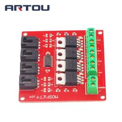 Quatro canais de 4 vias rota mosfet botão irf540 v4.0 mosfet módulo interruptor para arduino dc unidade do motor dimmer placa relé
