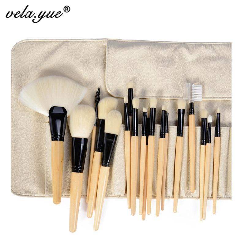 Juego de brochas de maquillaje profesionales, maquillaje vegano sintético suave, Kit de belleza, base en polvo, colorete, delineador de cejas, herramientas de brillo