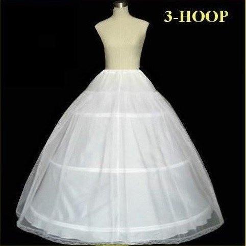 Plus size In Stock Hot Sale 3 Hoop Ball Gown Bone Full Crinoline Petticoats For Wedding Dress Wedding Skirt Accessories Slip