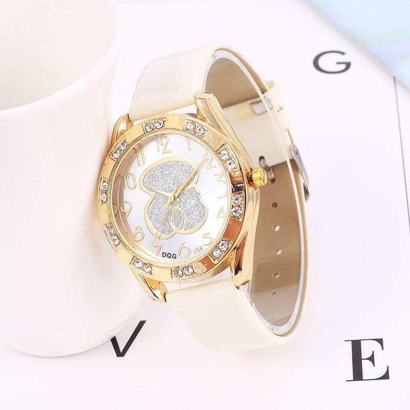 Relogio feminino 2019 New Women Watches Fashion Brand Bear Watch Casual Leather Belt Quartz Wristwatch reloj mujer