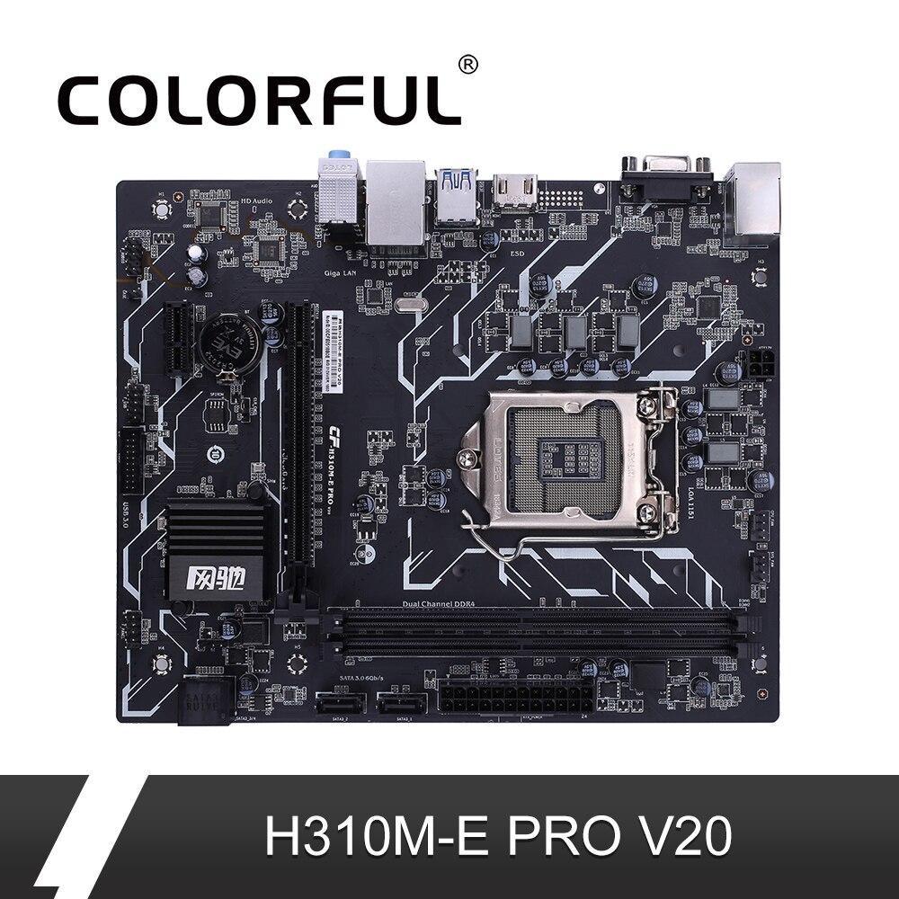 Colorido H310M-E pro v20 placa-mãe mainboard intel lga 1151 processador ddr4 sata3.0 matx pci-e 3.0 slot de expansão para desktop