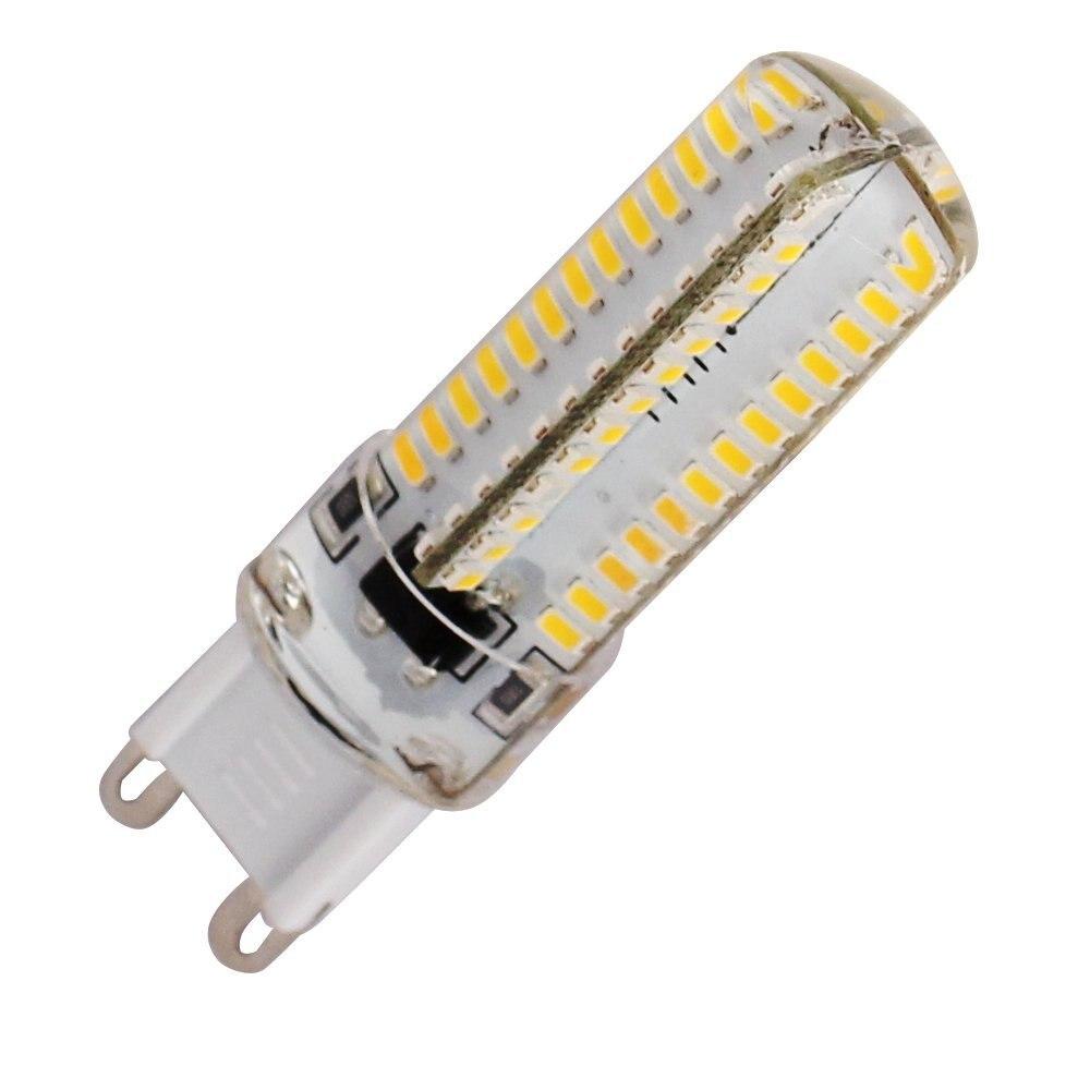 G9 Cross Silicone Seal 6W 500-600lm 6500K/3000k 104 x SMD 3014 LED Cool /Warm White Light Bulb Lamp (AC 220V)  Spotlight led