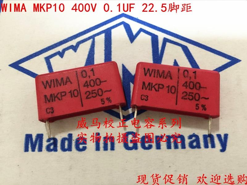 2019 gran oferta 10 uds/20 piezas Alemania WIMA MKP10 400V 0,1 UF 104 400V 100nf P: 22,5mm condensador de audio envío gratis