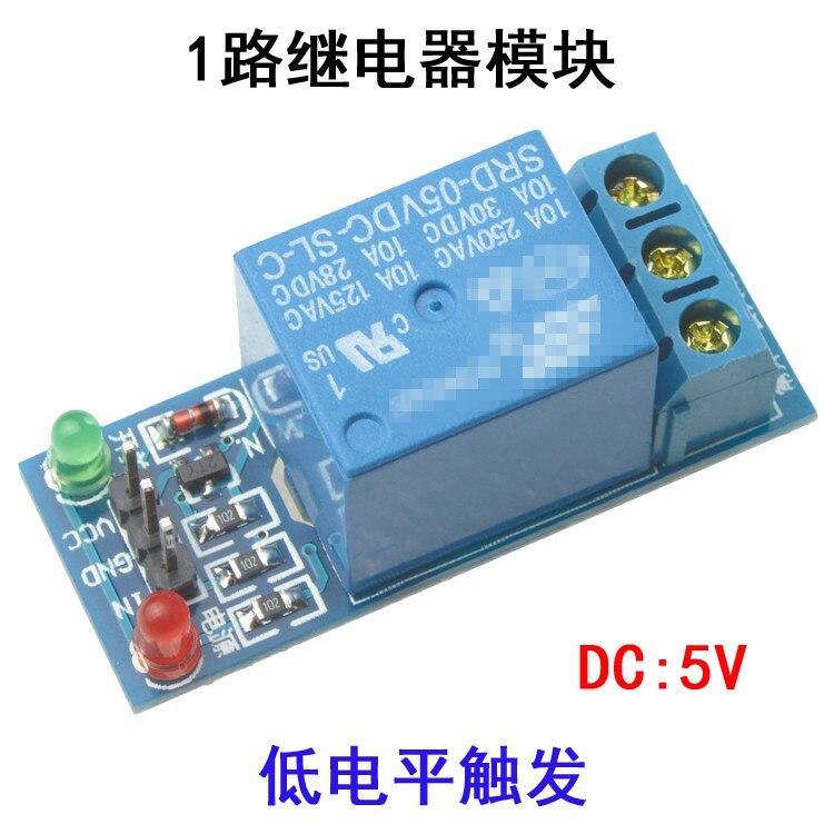 Componente electrónico SRD-05VDC-SL-C 1 canal DC 5V 10A módulo de relé