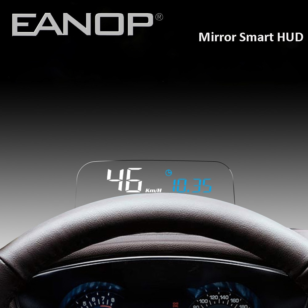 EANOP HUD Spiegel Kopf-up-display OBD2 GPS meter Auto Elektronik Stammt Computer Tachometer mit KMH KPM öl verbrauch Überwachung