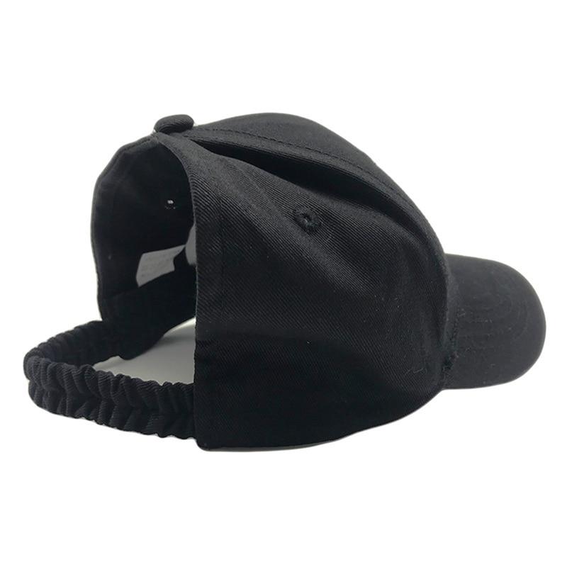 New Cap Women visor Ponytail Baseball Cap Tennis Cap Sunshade UV Protection Cotton Sun Hat Beach Visor Ponycaps