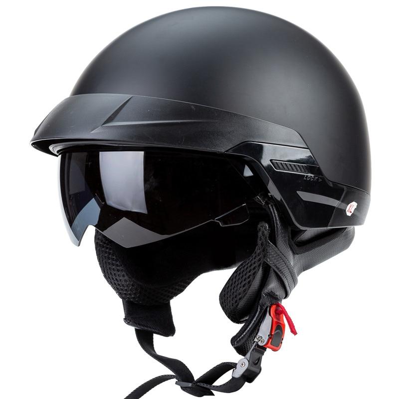 الكسالى سباق ZR-816 ريترو كروزر خوذة DOT المعتمدة دراجة نارية خوذة مفتوحة الوجه خوذة لمحبي دراجة نارية
