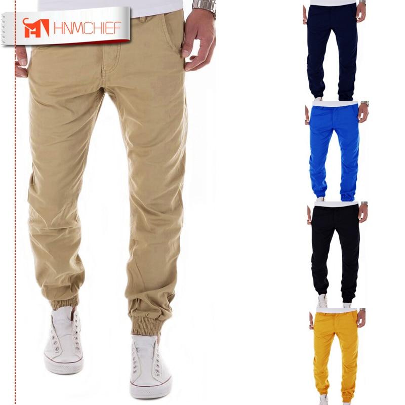HNMCHIEF, pantalones para hombre 2017, pantalones de marca para hombre, pantalones casuales de color sólido, pantalones de chándal, pantalones de chándal de color caqui, pantalones de chándal XXXL