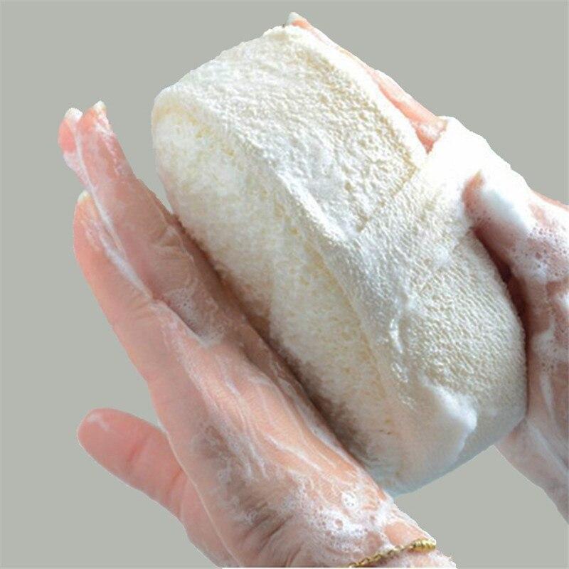 Parte superior natural loofah banho chuveiro bola cabaça massageador corpo toalha de lavagem purificador bodys lavagem esponja limpeza da pele purificador