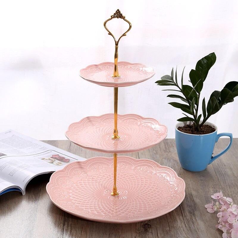 Soporte para Tartas, soporte de placa, de 2 niveles soporte nuevo, soporte de platos para pasteles, accesorios para cupcakes, fiesta de bodas plateada dorada (plato no incluido)