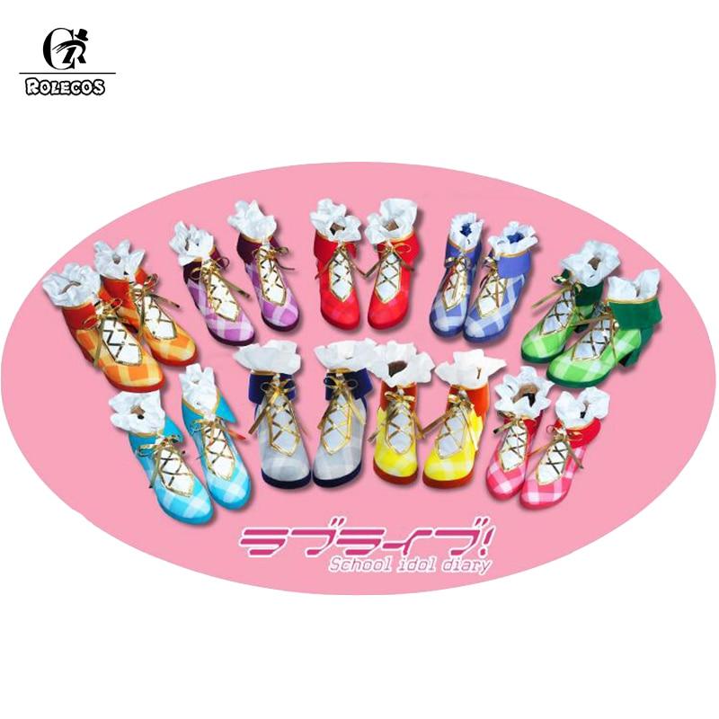 ROLECOS Anime amor en directo todos los personajes Cosplay zapatos ramo de flores excitación Kousaka Honoka Minami Kotori Ayase Eli Cosplay zapatos