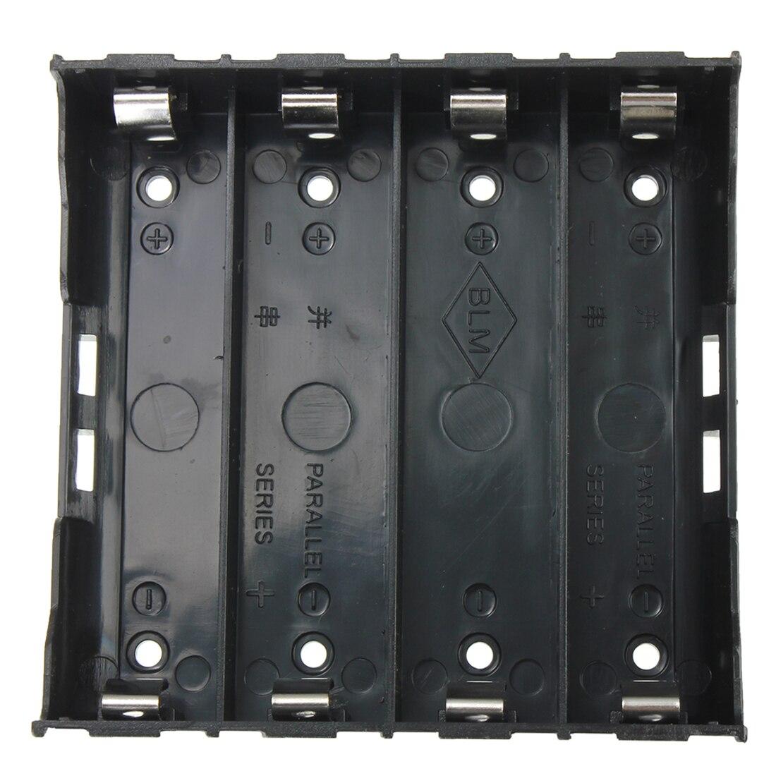 Лучшие предложения, 10x держатель аккумулятора, черный чехол для аккумулятора 4x13,7 V 18650