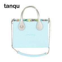 Huntfun carré EVA sac avec boucle plate poignée chaîne dépaule coloré étanche poche intérieure O sac style femmes Obag sac à main