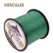 Hercules ligne de pêche 100M 300M 500M 1000M 1500M 2000M carpe cordon de pêche 4 fils Multifilament 6-100LB vert PE tressé fil