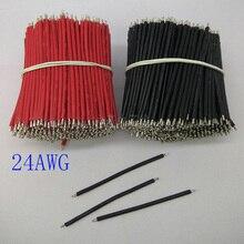 Composants électroniques 200/plus25mm   Câble électronique en étain noir et rouge 24AWG, fil de panneau pour le bricolage, fret gratuit