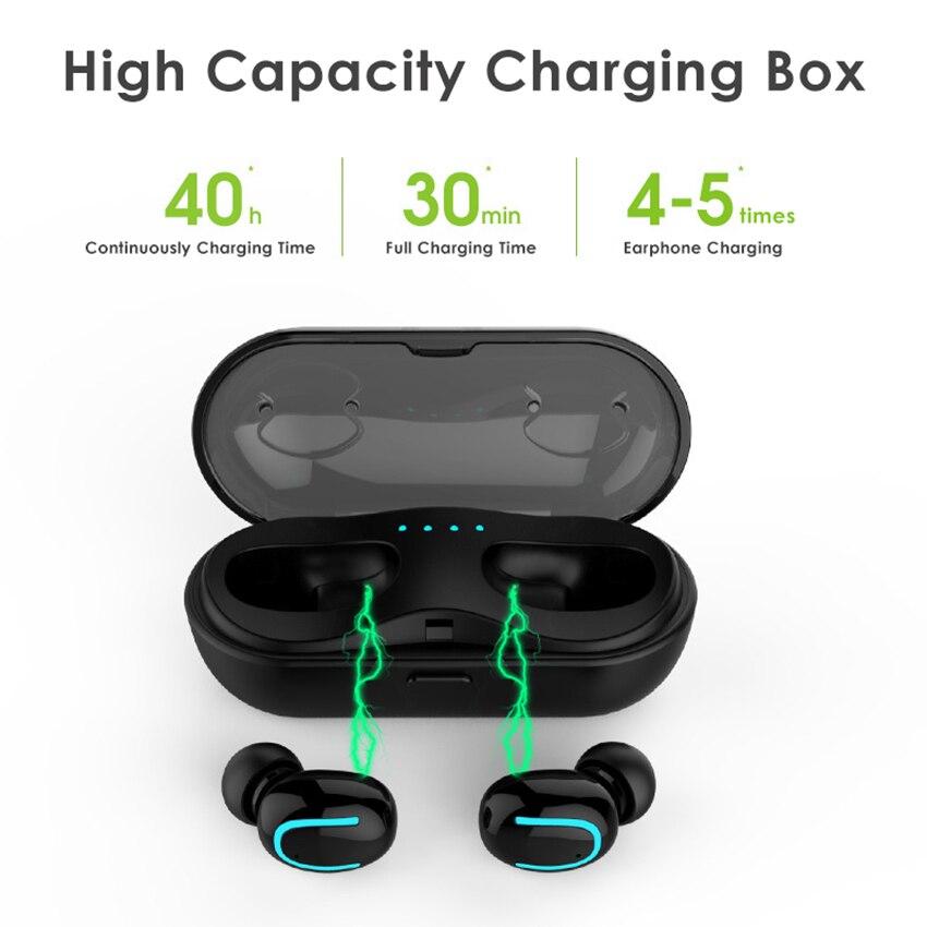 MINI auriculares Bluetooth 5,0 auriculares inalámbricos Bluetooth auricular manos libres auriculares deportivos auriculares para Gaming teléfono TWS