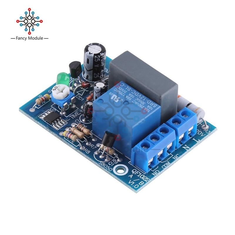 Relé temporizador de CA de 220V, módulo de interruptor de retardo de entrada/salida ajustable de 0 a 10 segundos, 10Min, 10HR, 100Min, temporizador de apagado