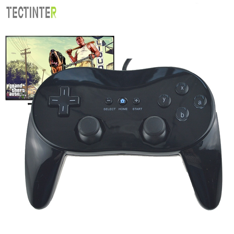 Para Wii Mini Classic Controller Pro negro blanco Gamepad para Wii accesorios remotos videojuegos Joystick