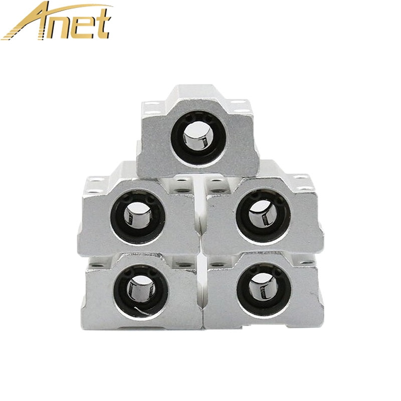 5pc/lot Anet 3D Printer Part SC8UU 8mm Linear Motion Ball Bearing Slide Block Bushing Linear Shaft for Reprap DIY For 3d Printer