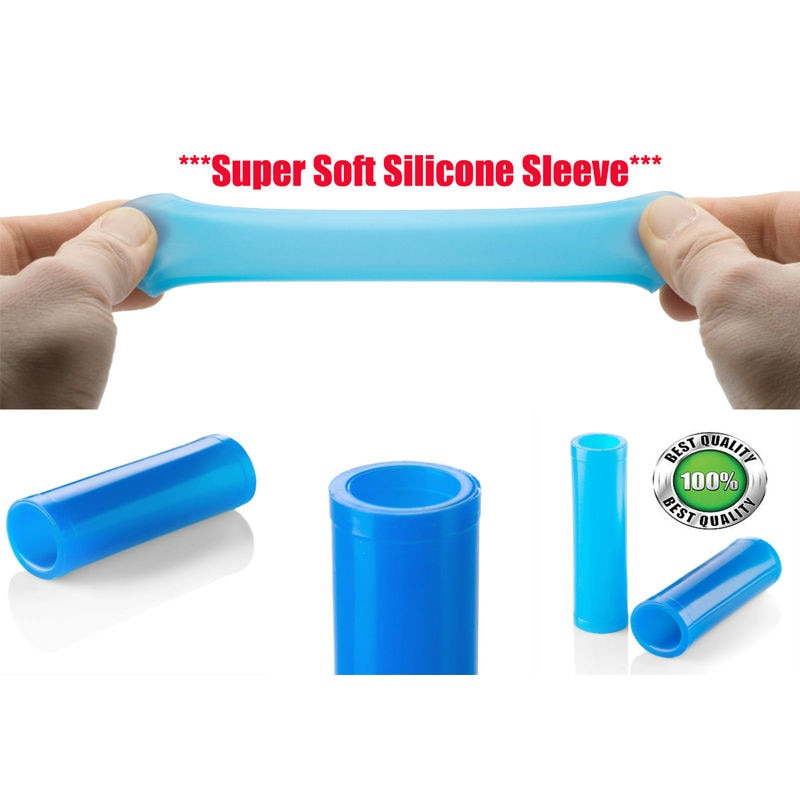 2 Silicone Sleeves for Penis Enlargement Extender Stretcher Pump Hanger Enlarger Penis sleeve For phallosan condom