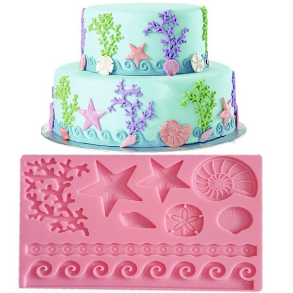 Molde de silicona Fondant pastel decorar Chocolate molde de hornear herramienta de diseño creativo perfecto ayudante de cocina 5,6