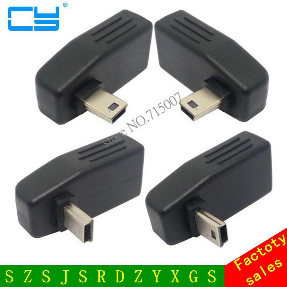 Adaptador OTG de 90 grados Anlgle USB hembra a Mini USB macho para coche, tableta auxiliar, lector de memoria flash USB de música, ratón KEYBAORD